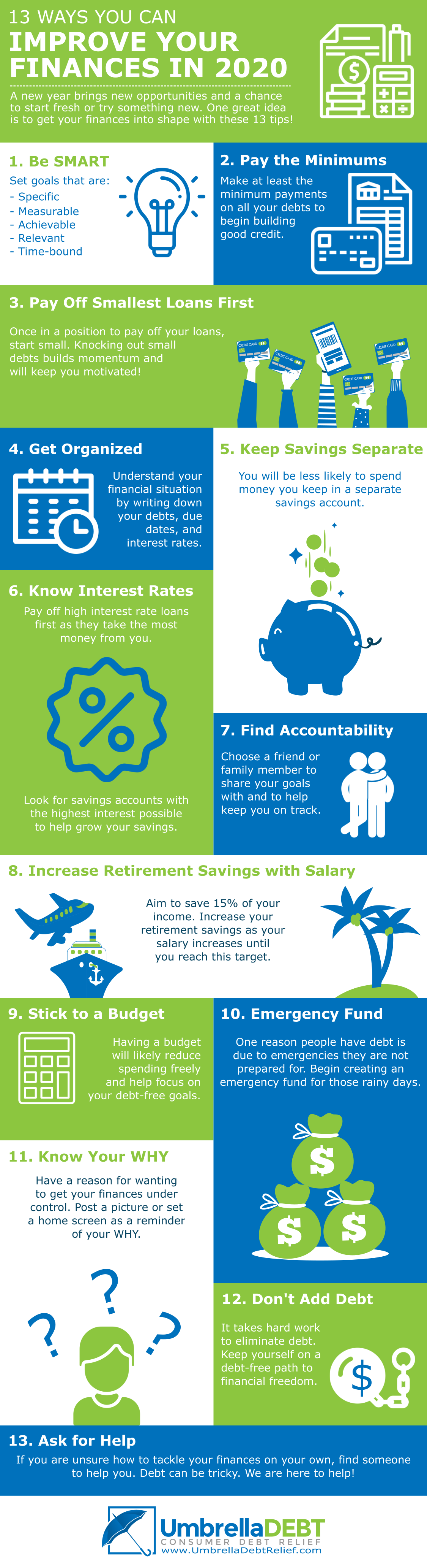 UDR INFOGRAPHIC JULY20 - 13 Steps You Can Take to Improve Finances in 2020